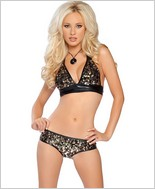 Roma Triangle Shaped Halter Top And Short RC-2883SQ