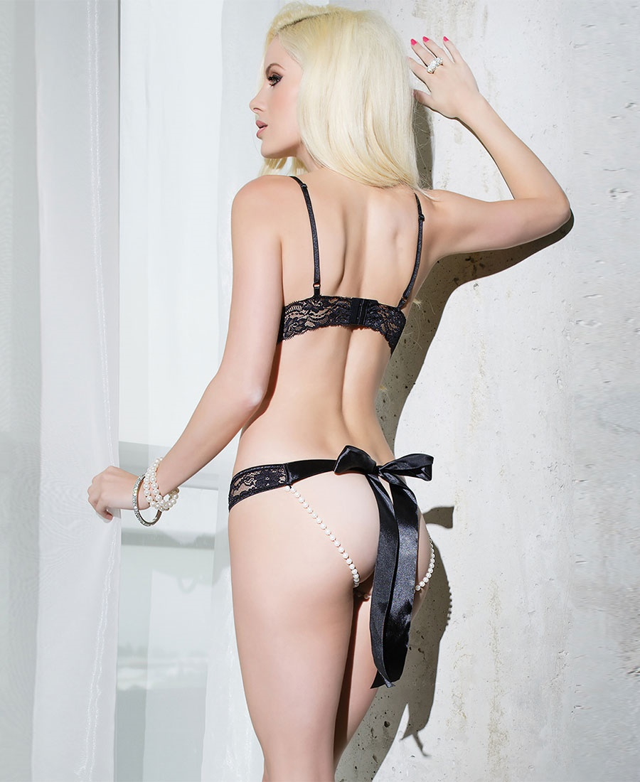 Cupless and crotchless lingerie for