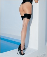 Leg Avenue� Two Toned Lycra Sheer Thigh Highs LA-1024