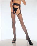 Leg Avenue� Fishnet Thigh High With Lace Garter Belt LA-1656