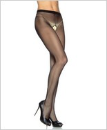 Leg Avenue� Sheer Nylon Crotchless Pantyhose LA-1905