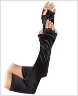 Leg Avenue Velvet Opera Length Fingerless Gloves LA-2053