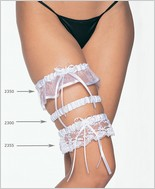 Leg Avenue� Satin Garter With  Lace Ruffle And Bow LA-2355