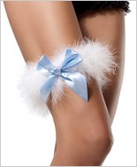 Leg Avenue� Marabou Garter With Satin Bow LA-2358