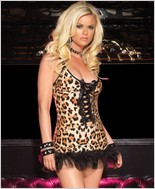 Leg Avenue Leopard Print Spandex Mini Dress LA-28013