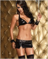 Leg Avenue Halter Top And Mini Skirt LA-28057