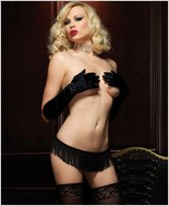 Shimmy Fringe Stretch G-String LA-2974
