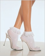 Leg Avenue� Anklets With Lace Ruffle LA-3013