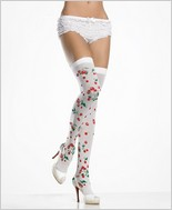 Leg Avenue® Opaque Cherry Print Thigh Highs LA-6282