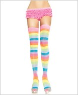 Leg Avenue Acrylic Neon Rainbow Thigh Highs LA-6600