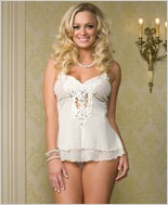 Leg Avenue® Batterfly Babydoll And G-String Set LA-81106