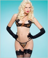 Leg Avenue Two Piece Pin-Up Kitty Set LA-81239