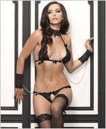 Leg Avenue Lace Halter Bra Top And G-String LA-81309