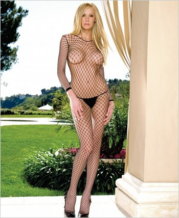 Leg Avenue� Indastrial Net Open Crotch Bodystocking LA-8380