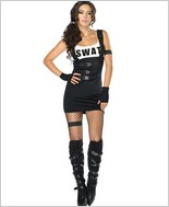 Sultry Swat Officer Costume LA-83850