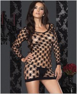 Leg Avenue Hardcore Net Long Sleeved Mini Dress LA-86327