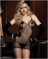 Leg Avenue® Fishnet Mini Dress And G-String LA-86338