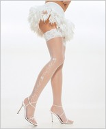 Leg Avenue� Wedding Bell Sheer Lace Top Thigh Highs LA-9019