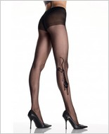 Leg Avenue® Tiger Tattoo Sheer Pantyhose LA-9314