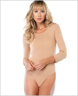 Leg Avenue® Long Sleeve Opaque Bodysuit LA-PC8001