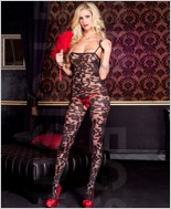 Sheer Crotchless Bodystocking ML-1066