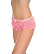 Pink Ruffle Lace Tanga Short ML-115-Pink