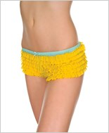 Two Tone Ruffle Tanga Short ML-128