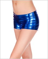 Blue Banded Metallic Shorts ML-141-Blue