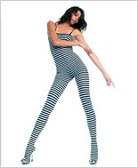 Music Legs® Opaque Stripes Bodystocking ML-1741