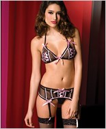 Halter Bra And Garter Belt Set ML-52030