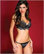 Embroidered Lace Bra And G-String Set ML-59023
