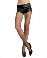 Music Legs� Pumpkin & Cat Halloween Tights ML-606