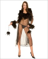 Music Legs� Ostrich Sheer Robe With Gown ML-70061