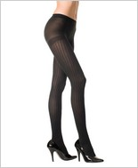 Music Legs® Designed Vertical Stripes Tight ML-7066