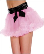 Petticoat With Vinyl Waste Band ML-730-Pink