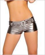 Roma� Metallic Short With Belt RC-SHLQ223