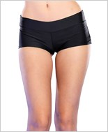 Black Basic Spandex Boyshorts La-28115-Black
