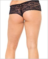 Plus Size Lace Crotchless Tanga Thong La-2911Q