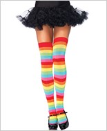 Rainbow Thigh High Stockings La-6334