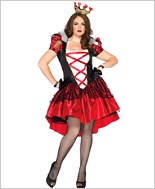 Plus Size Royal Red Queen Adult Costume La-86166X