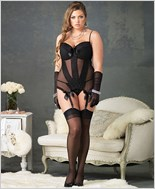 Plus Size Cami Garter Set And Panty Set La-86536Q