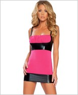 Roma Metallic And Slinky Mini Dress RC-2886SL